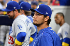 VIDEO: Dodgers' Yu Darvish Jokes Around About His Good-Looking Face